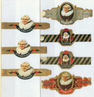 7 Alte Zigarrenbanderolen - Bauchbinden Der Zigarrenmarke Elisabeth-Bas - Bauchbinden (Zigarrenringe)