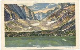 Slovakia 1921. Tatry Batizovske Jezero Batizfalvi To - Slovakia