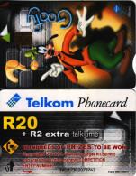 **Télecarte D'Afrique Du Sud GOOFY R20 +R2 VIDE BON ETAT  N° Lot : TAAJ17301845535 - South Africa
