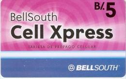 TARJETA DE PANAMA DE BELLSOUTH DE CELL XPRESS B/.5 - Panamá