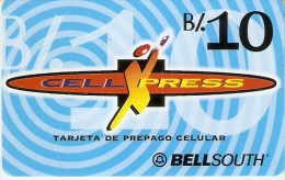 TARJETA DE PANAMA DE BELLSOUTH DE CELL XPRESS B/.10 - Panamá
