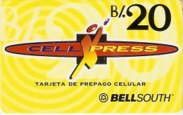 TARJETA DE PANAMA DE BELLSOUTH DE CELL XPRESS B/.20 - Panamá