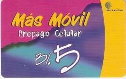 TARJETA DE PANAMA DE CABLE & WIRELESS B/.5  MAS MOVIL - Panamá