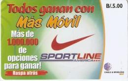 TARJETA DE PANAMA DE CABLE & WIRELESS B/.5  MAS MOVIL (SPORT LINE) NIKE - Panamá
