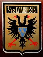 Autocollant Armée De L´air Escadron De Chasse 1/12 Cambrésis - Aviation