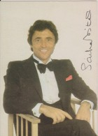 Carte De Sacha Alexandre Distel Signé,guitariste De Jazz,chanteur Français,1933-2004,neveu De Ray Ventura,rare - Souvenir De...