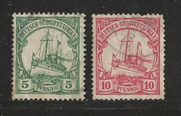 GERMAN SOUTH WEST AFRICA, 1906, Cancelled Stamp(s) SMS Hohenzollern, 5+10 Pf, MI 25-26 #16067 - Colony: German South West Africa