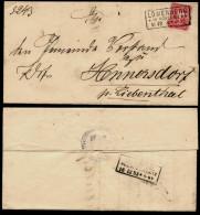 DR 1883 Nr. 41 Auf Brief Mit R3 Löwenberg In Schlesien OPD Liegnitz > Hennersdorf Bei Liebenthal - Norddeutscher Postbezirk