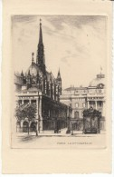 Paris France, La Sainte Chapelle, Etching? Art Work - Prints & Engravings