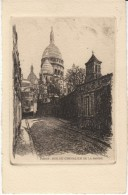 Paris France, Rue Du Chevalier De La Barre Scene, Signed 'L Robin'(?) Etching? Art Work - Prints & Engravings
