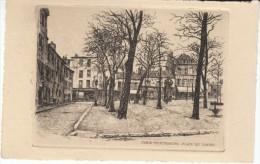 Paris France, Montmartre Place Du Tertre, Signed 'L Robin'(?) Etching? Art Work - Prints & Engravings