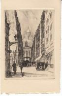 Paris France, Rue Laffitte, Etching? Art Work - Prints & Engravings