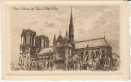 Paris France, Notre Dame De Paris Cote Sud, Signed 'L G', Etching? Art Work - Prints & Engravings