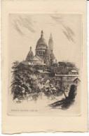 Paris France, Sacre Coeur, Signed 'L Robin'?, Etching? Art Work - Prints & Engravings