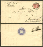 DR 1888 Nr. 41 Brief Mit KOS Löwenberg (Schlesien) > Hennersdorf Bei Liebenthal - Norddeutscher Postbezirk