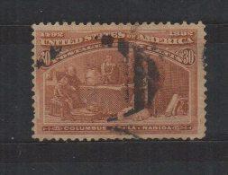 N594.-. USA / ESTADOS UNIDOS.-.1893. -. SC# : 239. USED.-. COLUMBIAN EXPOSITION .-. CAT VAL US$ 100.00 - 1847-99 Emissions Générales