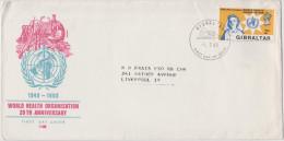 GIBILTERRA - Gibraltar - 1968 - 20th Anniversary Of World Health Organization - WHO - FDC - WHO
