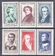 FRANCE  B 258-63    **  *   FAMOUS  MEN - Unused Stamps