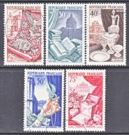 FRANCE  711-15   (o)  PARIS  EXPO.  HANDICRAFT - Used Stamps