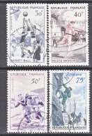 FRANCE  801-4   (o)  SPORTS  RUGBY  MOUNTAIN  CLIMBING,  JAI  ALAI - Used Stamps