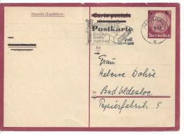 Germany 1943  Postkarte  6 Auf 15pf  (o) Mi. P 244b A (Hamburg 21.1.44) - Germany