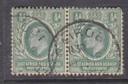 East Africa & Uganda 1904 1/2 Anna MCA Used Pair Nairobi C.D.S. - Kenya, Uganda & Tanganyika