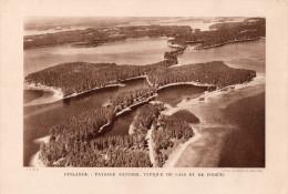 PLANCHE  -  PHOTOS  -  29 Cms X  20 Cms. - . FINLANDE : PAYSAGE NATUREL TYPIQUE DE LACS ET DE FORETS - Old Paper