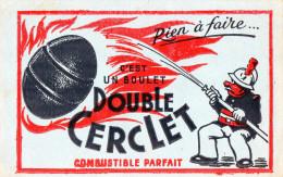 -  BUVARD Boulet De Charbon Double CERCLER - 688 - Gas, Garage, Oil