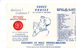 -  BUVARD 59 CAMBRAI - Chicorée Et Malt PROTEZ-DELATRE - 687 - Koffie En Thee