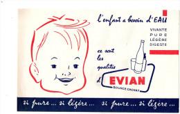 -  BUVARD Eau EVIAN - 689 - Alimentaire