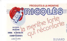 -  BUVARD  RICQLES, Alcool Et Menthe - 695 - Liqueur & Bière