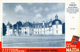 -  BUVARD  Piles MAZDA - Château De TANLAY Yonne - 699 - Baterías