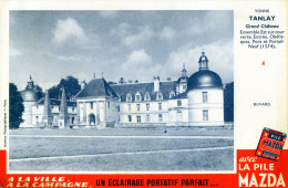 -  BUVARD  Piles MAZDA - Château De TANLAY Yonne - 699 - Batterie