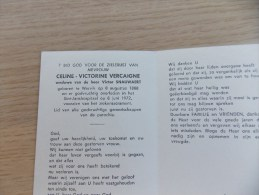 Doodsprentje Celine Victorine Vercaigne Wervik 8/8/1888 - 8/6/1972 ( Victor Snauwaert ) - Religion & Esotericism