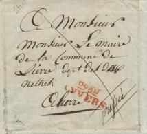 827/22 - MILITAIRE - Lettre Précurseur 1807 P93P ANVERS à LIERRE- Signée Precigou, Sergent Major Cie Bataillon Régiment - 1794-1814 (French Period)