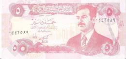 IRAK 5 DINARS 1992 UNC P 80