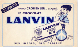 -  BUVARD  Chocolat LANVIN N° 7 - 704 - Chocolat
