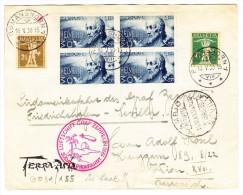 Zeppelin 1. Südafrikafahrt  16.V.1930 Romanshorn Auf  Brief Nach Wien Transit Sevilla - Poste Aérienne