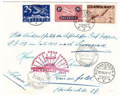 Zeppelin Polarfahrt 22.VII.31 Romanshorn Auf Brief Nach Leningrad Retour Frauenfeld - Poste Aérienne