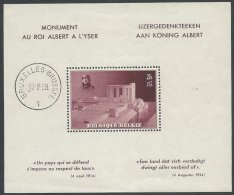 BELGIQUE - Bloc Du Roi Albert à L'Yser De 1938 Neuf TB - Blocs 1924-1960