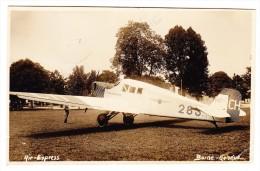 Int. Roverlager (Scouts Pfadfinder) Kandersteg 4.VIII.31 Luftpost AK Motiv Air-Express - Berne-Genève - Poste Aérienne