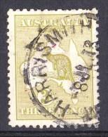 Australia 1918 Kangaroo 3d Olive 3rd Wmk HARRISMITH, WA Used - 1913-48 Kangaroos