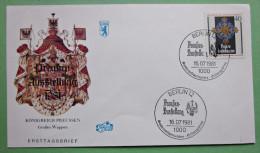Brief FDC Briefmarken Deutschland Berlin Preussen Wappen 1981 Ersttagsbrief - Berlin (West)