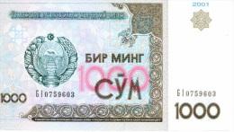 1 000 Som 2001 NEUF - Usbekistan