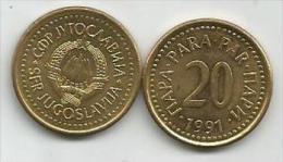 Yugoslavia 20 Para 1991. - Jugoslavia
