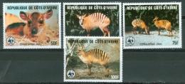 Ivory Coast 1985 WWF, Animals MNH** - Lot. 2903 - Côte D'Ivoire (1960-...)