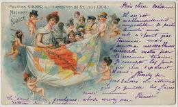 Advert Singer St Louis Missouri Exhibition 1904 Louisiana Purchase  Angels Cupids  - Estados Unidos