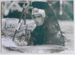Kayak - Carte Bristol De Fabien LEFEVRE  - Dédicace - Signé - Autographe Authentique - Cartes Postales