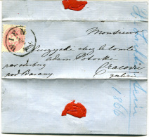 AUSTRIA 1866 - Letter From WIEN To Poland (in Polish) - 1850-1918 Empire