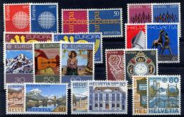 SWITZERLAND - Europa CEPT 1970-79 (compl.) MNH (postfrisch) VF - Suisse